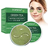 Máscara de ojos de té verde,Parches oculares antiedad,ácido hialurónico y colágeno antiarrugas,Adecuado para el tratamiento de ojeras,Bolsas debajo de los ojos,Hinchazón,60 Piezas