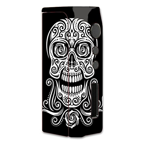 Skin Decal Vinyl Wrap for Pioneer4you iPV D2 75w Vape Mod Box / Tribal Skull