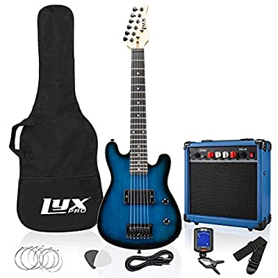 30 Inch Electric Guitar Starter Kit Bundle for Kids with 3/4 Size Beginner?s Guitar