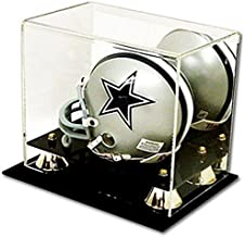 Cardboard Gold Deluxe Acrylic Football Mini Helmet Display Case With Mirrored Back