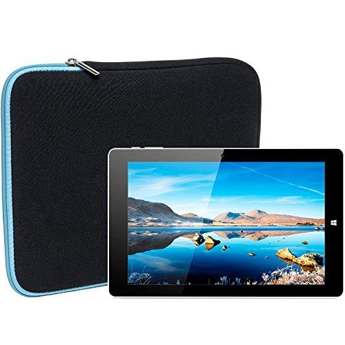 Slabo Tablet Tasche Schutzhülle für Chuwi Hi10 Hülle Etui Case Phablet aus Neopren – TÜRKIS/SCHWARZ