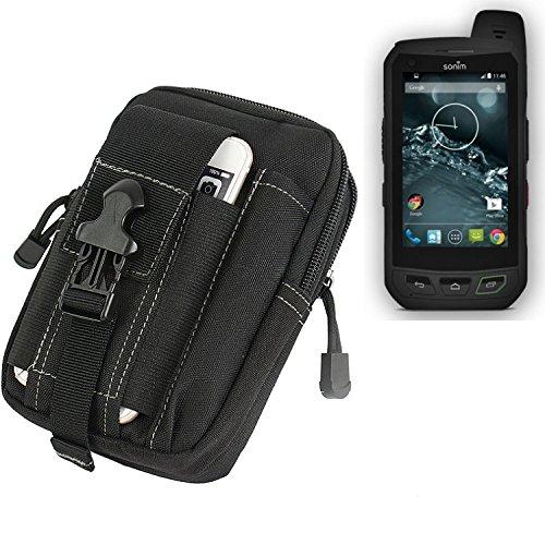 K-S-Trade Gürtel Tasche Kompatibel Mit Sonim XP7 Gürteltasche Holster Schutzhülle Handy Hülle Smartphone Outdoor Handyhülle Schwarz Zusatzfächer