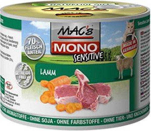 MAC's Katzenfutter getreidefrei Mono Sensitive Lamm + Karotte, 200 g