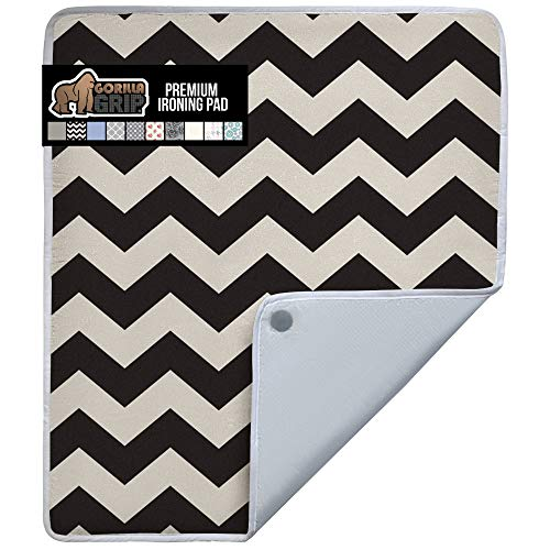 Gorilla Grip Premium Ironing Pad, Magnetic Laundry Pad, 28x24 Inch, Heat and Scorch Resistant, Iron Board Mat for Table Top, Washer, Dryer, Durable Pads Great for Travel, Blue