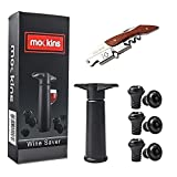 mockins All in One Wine Accessories Set With Wine Saver Vacuum Pump | 6 Vacuum Rubber Wine Stoppers...