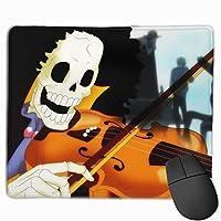 マウスパッド ワンピース ブルック One Piece Brook Mousepad ミニ 小さい おしゃれ 耐久性が良 滑り止めゴム底 表面 防水 コンピューターオフィス ゲーミング 25 x 30cm