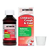Children's BACTIMICINA Cough and Cold Liquid, Cough Suppressant/Antihistamine, Ages 6 and Over, Natural Strawberry Flavor, Made in USA 4 FL OZ.