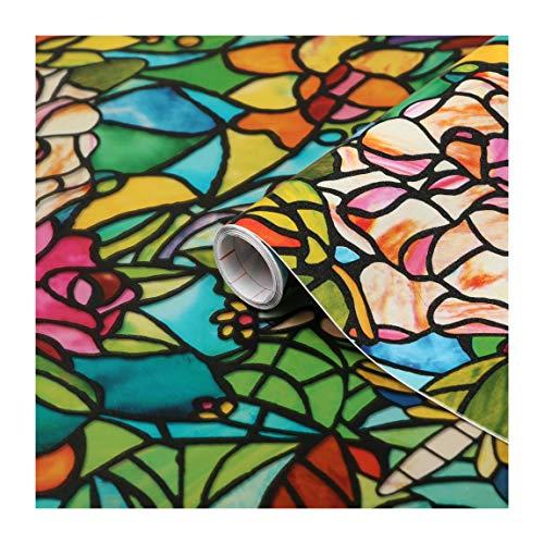 d-c-fix, Fensterfolie, Design Tulia, transparent, selbstklebend, 45 x 200 cm