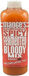 Madge's Fermented Bloody Mary Mix Spicy 32 oz Raw- Probiotic -Vegan- Micheladas