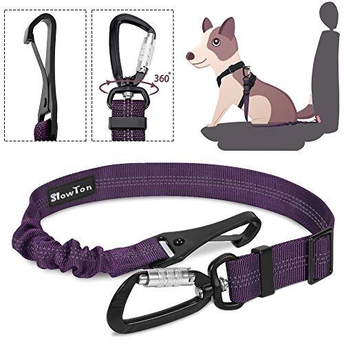 SlowTon Hunde Sicherheitsgurt sicherheitsgurt für Hunde pet Care Auto Hund Sicherheit Hund Auto im Auto Hund sicherheitsgurt Hunde Auto Gurt Hunde Gurt für Auto (Lila)