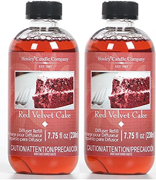 Hosley Aromatherapy Set Of 2 Premium Red Velvet Cake Scent Reed Diffuser Refills Oil 230 Milliliter 7 75 Fluid Ounce Ideal Gift For Wedding Party Spa Aromatherapy O4