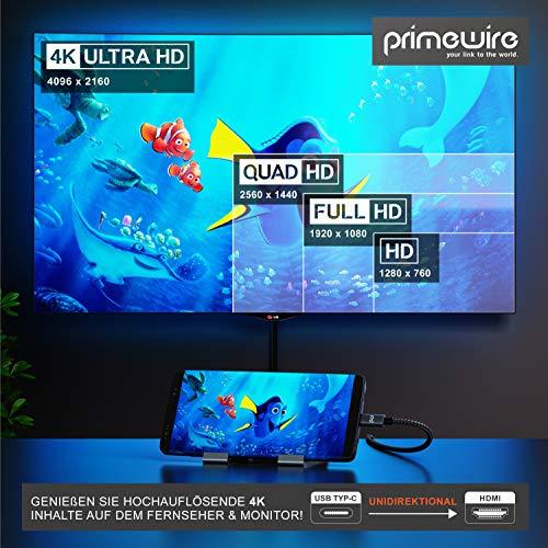 CSL - USB C zu HDMI Kabel 4k 60Hz - 1m - HDTV 4K Kabel - USB Typ C zu HDMI 2.0 - kompatibel mit MacBook Pro 2020 2019 2018 2017, MacBook Air, iPad Pro, Surface Book 2, Galaxy S10 UVM - schwarz