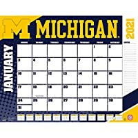 TURNER Sports Michigan Wolverines 2021 22X17 デスクカレンダー (21998061483)