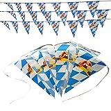 DishyKooker Blaue und weiße Plaid-hängende Flaggen-Oktoberfest-Dekorations-hängende Flaggen-Schnur des Wimpels Nr. 7 20 * 30 30 Fahnen 10 Meter eine Schnur