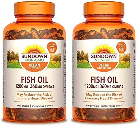 Sundown Fish Oil Extra Strength 1200 mg, 100 Softgels (Packaging May Vary)