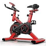 Msoah Heimtrainer Indoor Cycle Ergometer Heimtrainer, 6kg Schwungrad,mit Pulsmesser, LCD Anzeige, Armauflage, Pulsgurt, Gepolsterte