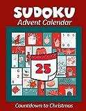 Sudoku Advent Calendar: Alternative Advent Calendar - Countdown to Christmas Puzzle Book Activity for Adults Men and Women
