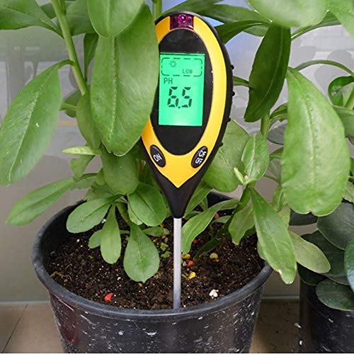 土壌テスターA-leafデジタル土壌酸度計4-in-1土壌酸度/照度/水分含有量/温度測定PHテスター土壌測定器多機能農業園芸用品家庭菜園対応簡易型屋内/屋外使用可能PHメーター(四合一)