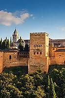 スペイン要塞アルハンブラデグラナダ公園住宅都市大人のパズル子供1000ピース木製パズルゲームギフト家の装飾特別な旅行のお土産