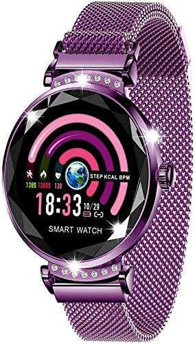"""Reloj Inteligente Mujeres, 1.04"""" IPS Pantalla Pulsera Actividad, Smartwatch con Monitoreo de Frecuencia Cardíaca, Seguimiento del Sueño, Reloj de Carrera Impermeable IP67 para Android iOS"""