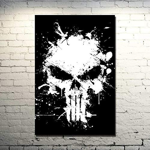 Puzzle 1000 Piezas Punisher Skull Art Classic Movie Hero Imagen Puzzle 1000 Piezas paisajes Gran Ocio vacacional, Juegos interactivos familiares50x75cm(20x30inch)