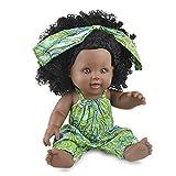 1 Pc 12 Pulgadas Simulación Del Bebé Del Juego Del Juguete De Silicona Realista Muñecas Africana Neg...