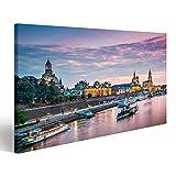 islandburner Bild Bilder auf Leinwand Dresden am Abend