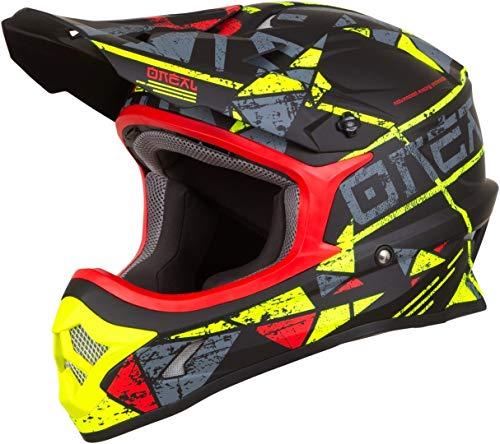 O'Neal 3Series Zen Motocross Helm MX MTB FR DH All Mountain Bike Freeride Downhill Fahrrad, 0623-Z-Adult, Farbe Neon Gelb, Größe S
