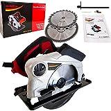 Scie circulaire 1810 W 5200 tr/min - Avec guide laser - Scie à disque HurthAG - Avec 2 disques de 185 mm - Lame 24T + 60T pour couper