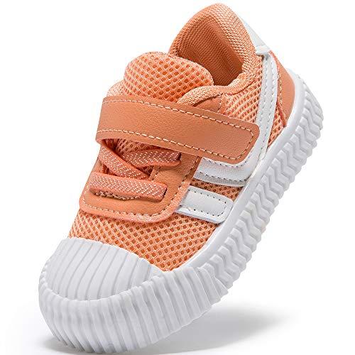 HLMBB Baby Shoes tênis para bebês meninas meninos crianças 6 9 12 18 meses pré-andador preto, 6.orange, 12-15 Months Toddler