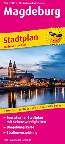 Magdeburg: Touristischer Stadtplan mit Sehenswürdigkeiten und Straßenverzeichnis. 1 : 14 000 (Stadtplan: SP)