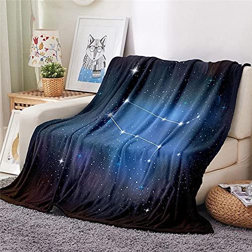 Mantas para Sofa Batamanta Mujer de Franela y Sherpa Manta Bebe Sofa Mantas con Estampados para la Cama y el Sofá 150x200 cm Constelación