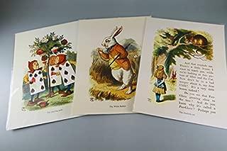BiblioArt Post Card Series 額絵3枚セット「テニエルの不思議の国のアリスー2 」(サービス品)