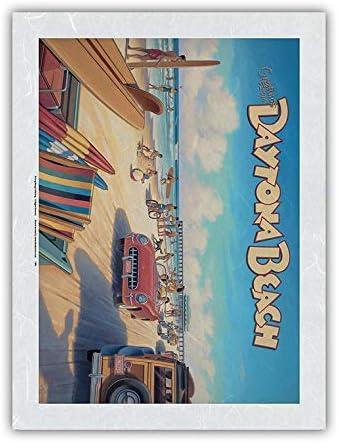 Greetings from Daytona Beach オリジナル Florida - Vintage 新色追加 T Spring Break