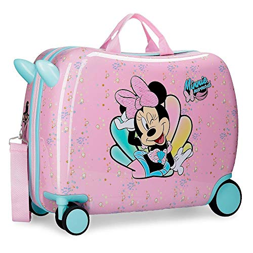 Minnie Mermaid Trolley Suitcase with Multidirectional Wheels