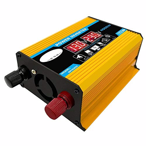 Inversor Transformador de voltaje 4000W 12V a 220V de energía del coche del inversor del convertidor del adaptador del cargador USB de doble onda sinusoidal modificada Inversores de corriente