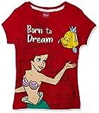 Hockey - Playera para niña Ariel Disney Princesas Color Rojo Estampada 6 años