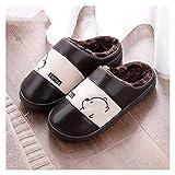 LDH Zapatillas Para Hombres PU Impermeables PU Señoras Zapatillas PVC Antideslizante Para Hombres Para Hombres Para Hombres Para Mujer, Zapatillas, Calidez, Resistente A La Suciedad Y Fácil De Limpiar