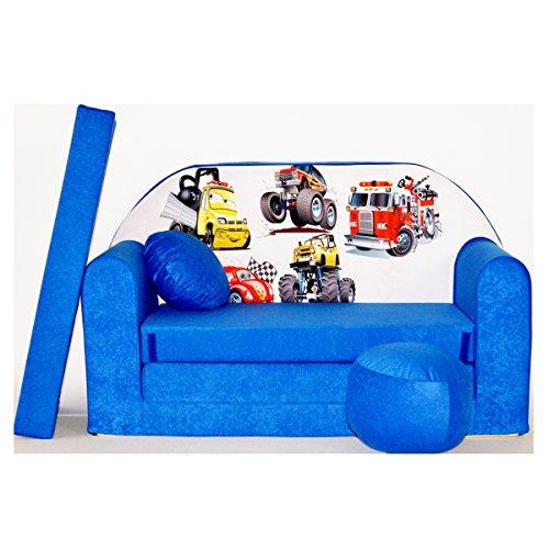Welox Kindersofa Spielsofa Minicouch aus Schaum Kindersessel Kissen Matratze Farbwahl (C14)