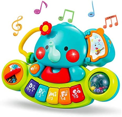 Yiosion Baby Music Toys Elephant Piano Keyboard Learning Educational Toys for Infant 3 6 9 12 product image