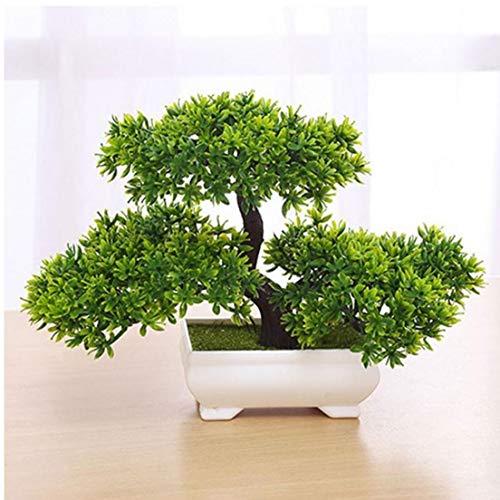 lujiaoshout Falso Artificial Bonsai Árbol de la Planta en Maceta Decoración Verde Plantas para jardín decoración de visualización en Escritorio