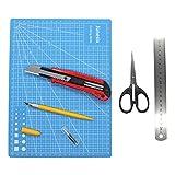 Toyvian 1 Set / 5pcs Artisanat de Planche à découper Tapis de Coupe avec Artisanat de Ciseaux Art Cutter...
