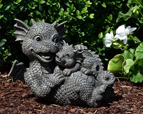 MystiCalls by Mayer Chess Gartendrache Mutter mit Baby - Garten, Figur, Drache, Yoga