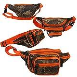 'E-Z Roll' Brand Tree Camouflage Waist Bag/Portable Fanny Pack (Orange Trim)