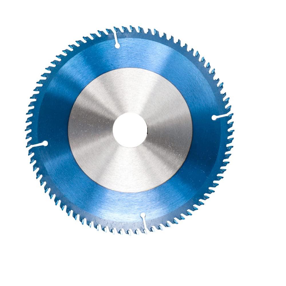 165-185mm Saw Blade Circular Nano Blue Recubrió el disco de corte de madera TCT 24/40 / 48T Disco de hoja de sierra con punta de carburo para herramienta eléctrica-185x30x80t