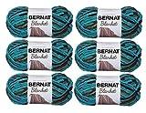 Bernat Blanket Yarn (6-Pack) Super Bulky #6 5.3 oz 108 Yds ea (Mallard Wood)