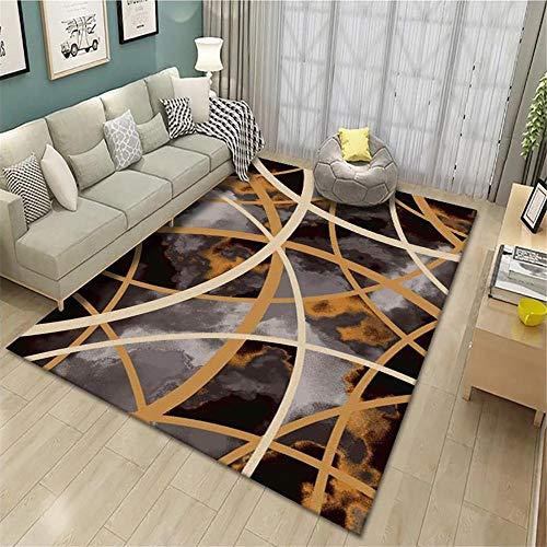 alfombras Infantiles Juegos Alfombra de salón marrón Retro Antiguo geométrico Anti-Sucio Alfombra de Lavado de Agua Marrón alfombras de Juegos para niños 50X80CM alfombras Salon 1ft 7.7''X2ft 7.5''