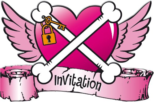 amscan Cartes d'invitation pour Fille Pirate