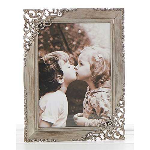 Vintage Style Ornate Rustic Metal Lace Photo Frame 5 x 7 New Boxed by ukgiftstoreonline