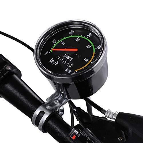 LQUIDE Ordinateur de vélo mécanique Classique rétro vélo Compteur kilométrique chronomètre Filaire Compteur de Vitesse Accessoire de vélo